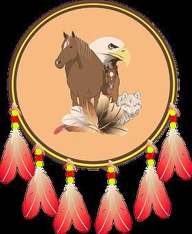 Indian Shield, Blason Indien, Shield, Horse, Eagle