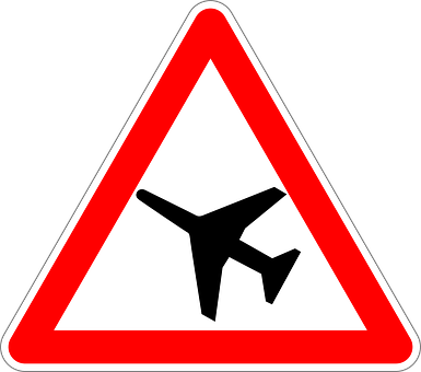Low-flying Aircraft, Traffic Sign, Sign, Road Sign