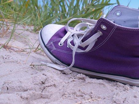 Chuck's, Sneaker, Beach, Sport Shoe, Converse, Adrift