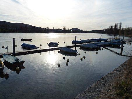 Rhine, River, Boats, Buoys, Stein Am Rhein, Water