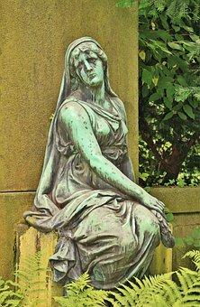 Woman, Human, Sculpture, Statue, Bronze, Bronze Statue