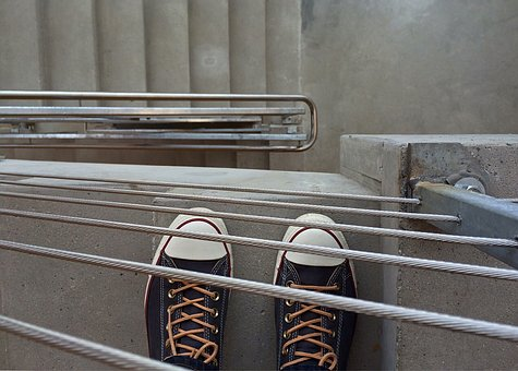 Converse, Chucks, Sneakers, Stairwell