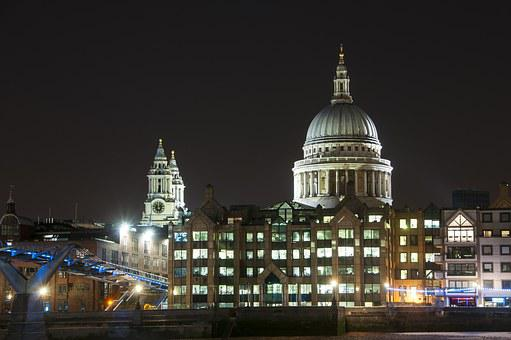 London, Cathedral, England, Architecture, City, Uk