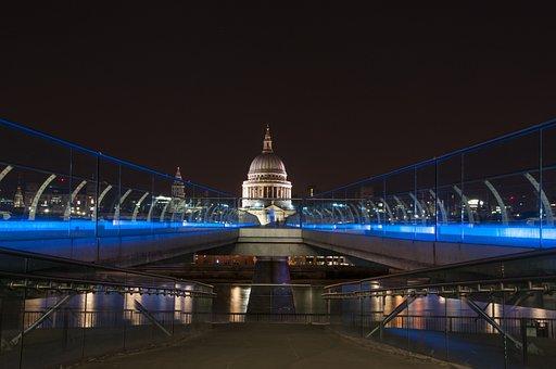 St Pauls, Night, London, City, Architecture, Landmark
