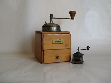 Grinder, Coffee, Grind, Crank, Mill, Old, Historically