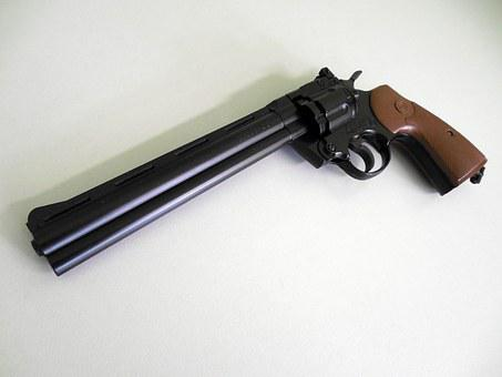 Air Pistol, Revolver, Colt, Compressed Air, Weapon
