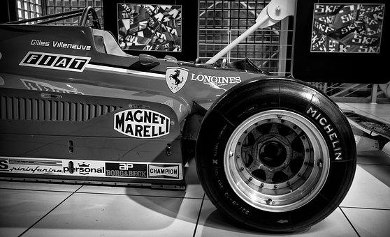 Wheel, Ferrari, Fast, Black And White, Made In Italy