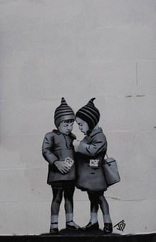 Graffiti, Banksy, Dismanling Country, Weston-super-mare
