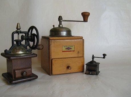 Coffee Grinders, Coffee, Grind, Crank, Old