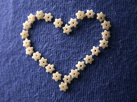 Heart, Pasta, Stars, Star, Shaped, Shape, Macaroni