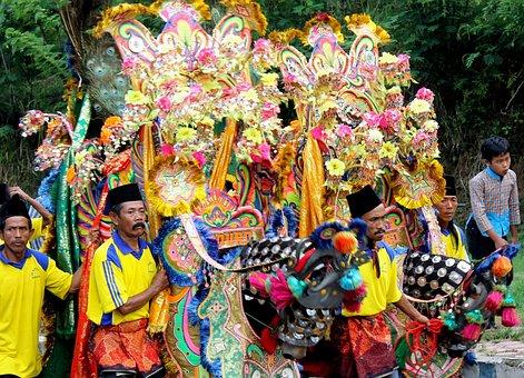 Java, Indonesia, Culture, Art, Performance, Jaran Kecak
