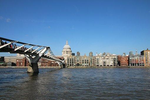 London, Millennium, Bridge, Thames, City, England
