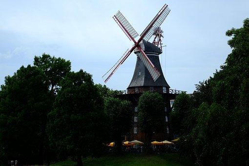 Mill, Windmill, Building, Wing, Wind, Lower Saxony