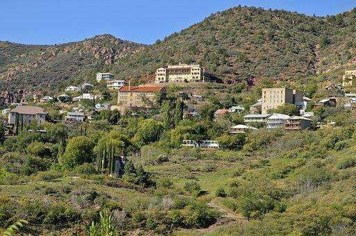 Jerome Arizona, Arizona Town On Mountain, Mining Town