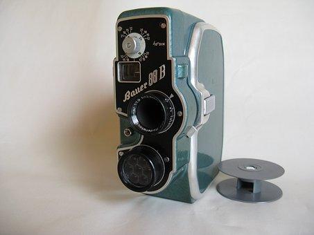 Old Camera, Film Camera, Lens, 1954, Narrow, Normal 8