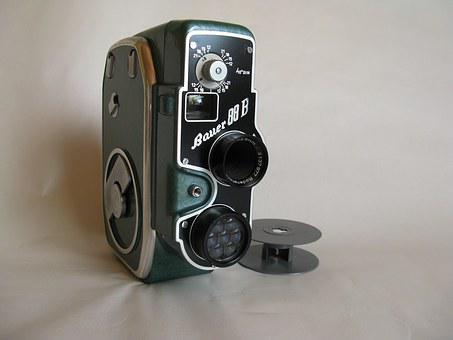 Camera, Film Camera, Film, Lens, Narrow, Old, 1954