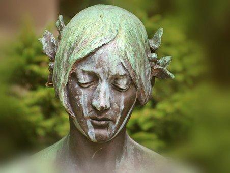 Woman, Head, Portrait, Sculpture, Statue, Antique, Old