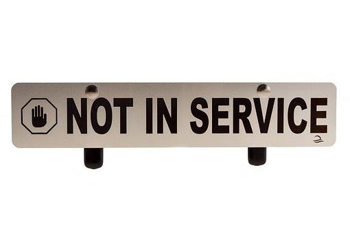 Out Of Order, Not In Service, Order, Sign, Not, Shut