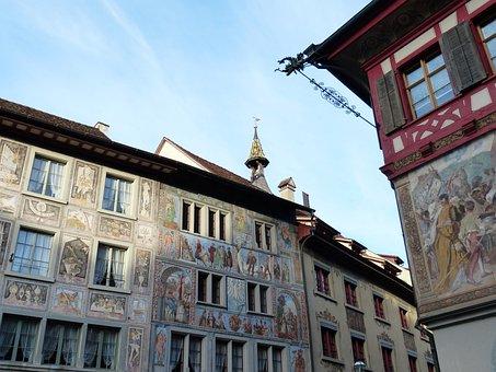 Fassadenmalerien, Painting, Stein Am Rhein, Facades
