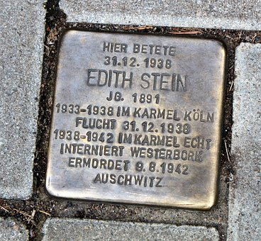Stumbling Stone, Patch, Edith Stein, Paving Stones