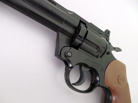 Air Pistol, Pistol, Revolver, Compressed Air, Colt