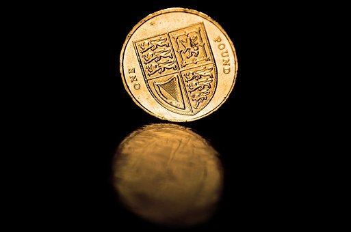 Coins, Pound, British Empire, Money, British, Gold