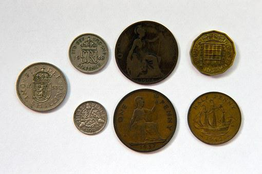 British Coinage, Reverse Faces, Pre-decimalisation