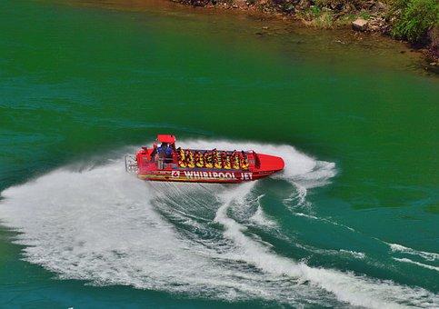 Jet Boat, Reverse Turn, Niagara River, Speedy Action