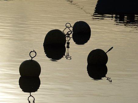 Water, Buoys, Shipping, River, Stein Am Rhein, Rhine