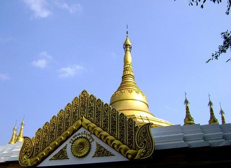 Pagoda, Shwedagon, Junrejo, Batu, Malamng, Jawa Timur