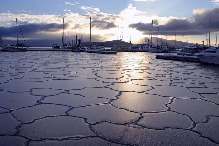 Alaska, Ships, Boats, Mountains, Sky, Clouds, Bay