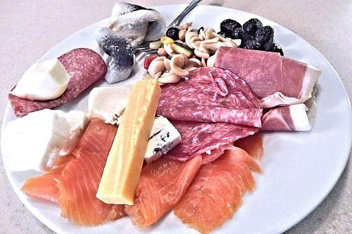 Pickled Herring, Gouda, Smoked Salmon, Blue Cheese