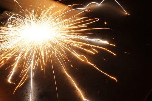 Fireworks, Sparks, Explosion, Holiday, Light