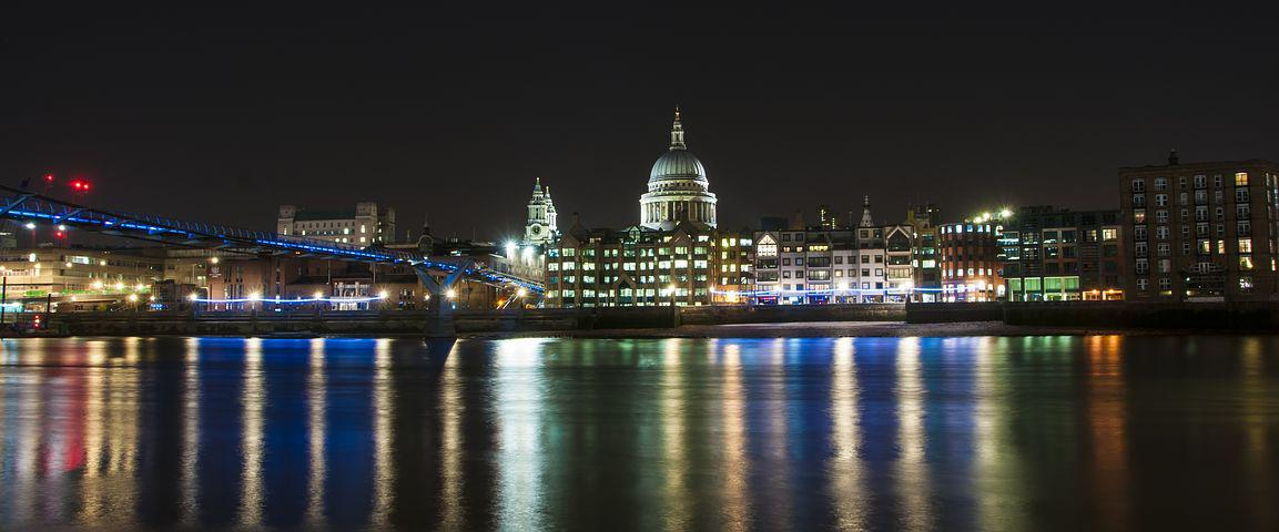 St Pauls, Night, City, Architecture, Landmark, Travel