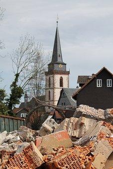Construction Work, Church, Oberursel, St Ursula, Crash