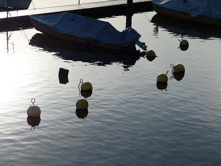 Buoys, River, Boats, Stein Am Rhein, Water, Rhine