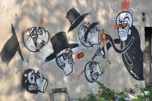 Street Art, Graffiti, Mural, Banksy, Art, Paint