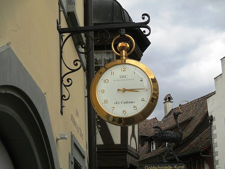 Old Town, Blacksmithing, Symbol, Golden Pocket Watch