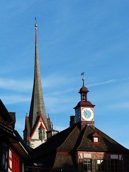 Stein Am Rhein, Church, Town Hall, Homes