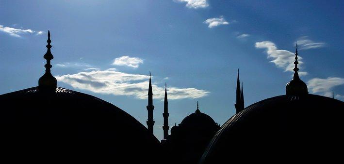 Mosque, Sultanahmet, Istanbul, Turkey, Landscape, Blue