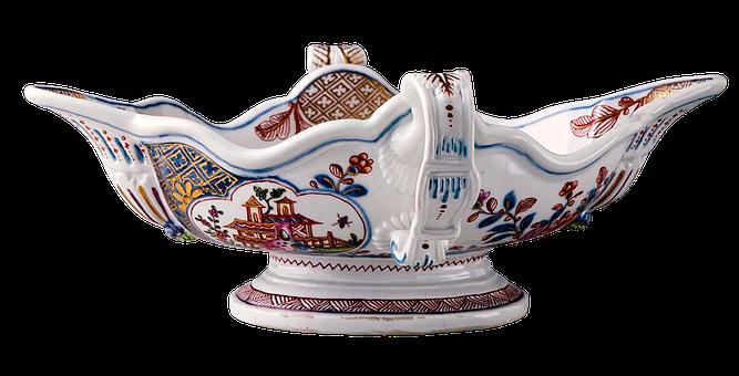 Two-handled Sauceboat, Sauceboat, Enamel, Porcelain