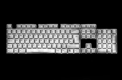 Keyboard, Keys, Buttons, Alphabet, Keypad, Type, Board