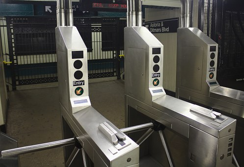 Turnstile, Subway, Nyc, Metro, New, York, City