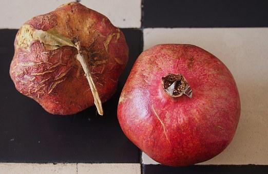 Pomegranate, Reverse Schrumpelt, Fresh, Young, Old
