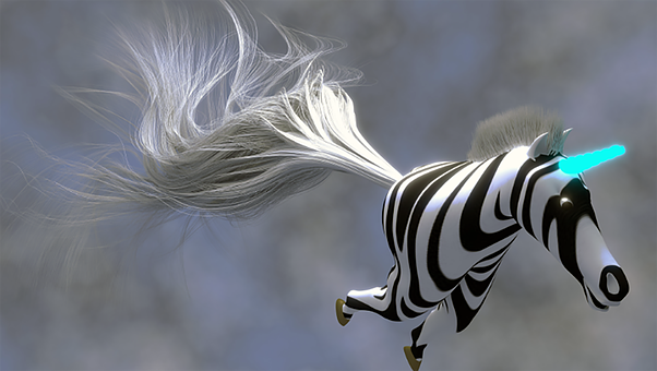 Zebra, Unicorn, Blender, 3d Render