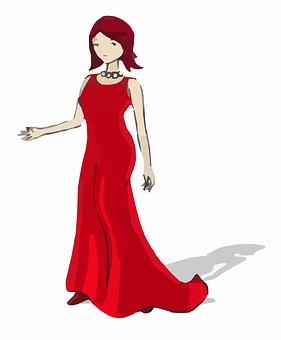 Lady, Woman, Red, Fashion, Women, Dress, Gown