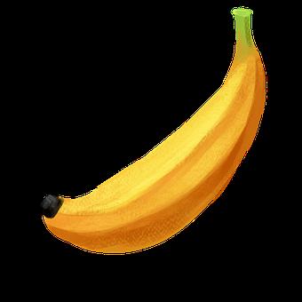 Banana, Crayons, Drawing, Illustration, Fruit, Yellow