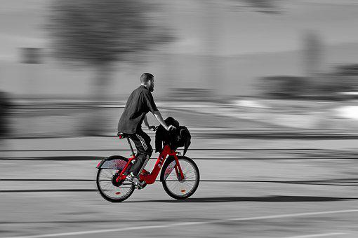 Bicing, Movement, Barcelona, City, Urban, Spain