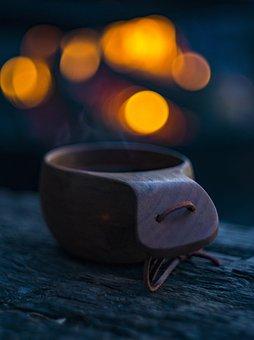 Cup, Bonfire, Coffee, Outdoors, Mug, Roasted, Fire