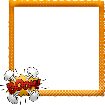 Comic Frame, Speech Bubbles, Halftone, Oops, Frame, Pow